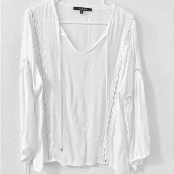 12d7147bf87dc4 Tops | Nwot White Bohemian Blouse With Gold Ring Detail | Poshmark